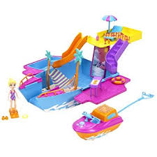 amazon polly pocket tropical party yacht toys u0026 games