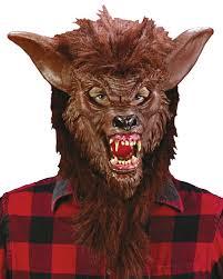 halloween costumes werewolf werewolf mask brown with realistic teeth halloween wolf mask