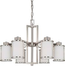 up down lighting chandelier nuvo odeon 6 light convertible up down chandelier w satin white