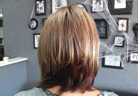 long hair in front shoulder length in back medium layered bob hairstyles back view 2017