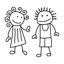 stick people artist drawing and coloring for kids clip art library