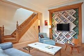 home made bookshelves decoration eclectic bedroom with white bedding and white homemade