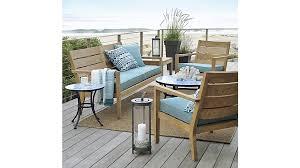 Sofa Table Crate And Barrel Regatta Sunbrella Sofa Cushions Crate And Barrel