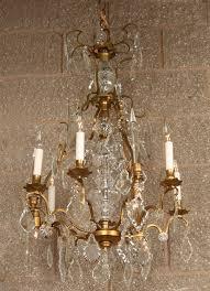Baroque Chandelier Baroque Chandelier With Brass Glass C 1940