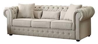 Beige Tufted Sofa by Tufted Sofa Amazon Com