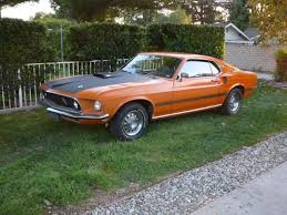 1969 mustang orange 1969 ford mustang mach 1 special order orange with factory