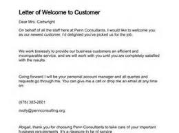 welcome letter to new business partner the letter sample