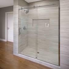 Basco Shower Door Basco Vinesse 47 In X 76 In Semi Frameless Sliding Shower Door
