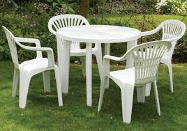 Patio Tables Only Ouse Valley Round Garden Table Only White Resin Patio Furniture