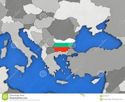 Bulgaria On World Map by Bulgaria On Globe Stock Illustration Image 84702317
