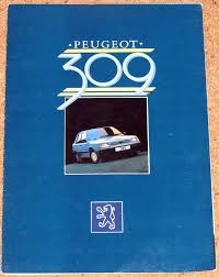 1985 86 peugeot 309 sales brochure sr injection sr gr profile