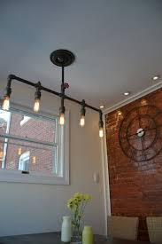 Hanging Edison Bulb Chandelier Hanging 5 Pendant Industrial Pipe Light Edison Bulbs Included