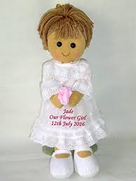 flower girl doll gift personalised rag doll bridesmaid flower girl wedding gift free