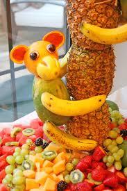 pineapple tree centerpiece with fruit monkeys u2013 glorious treats