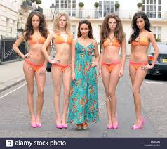 06 march 2013 london myleene klass poses with models at the stock