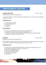 Example Electrician Resume Coal Miner Resume Sainde Org