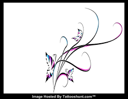 abstract swirl butterflies tattoo design tattooshunt com