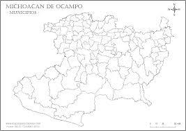 Michoacan Map Mapas De Michoacán De Ocampo Para Colorear