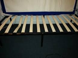 wooden slat bed frame black walmart com