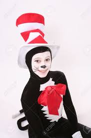 cat in the hat costume girl in cat in the hat costume stock photo picture and royalty