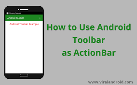 android toolbar tutorial android toolbar exle how to use toolbar as actionbar viral