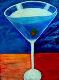 martini glass acrylic painting miscellaneous fun stuff