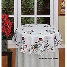 creative linens embroidered snowman and