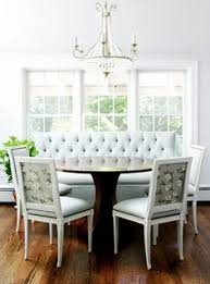 less expensive and more flexible than a built in banquette using