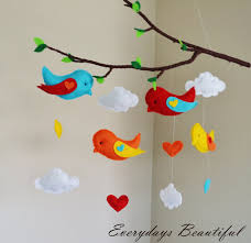 birds tree mobile choose your 4 colors by everydaysbeautiful