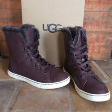 womens leather lace up boots australia ugg australia leather lace up mid calf boots for ebay