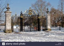 jubilee gate in winter entrance to s garden inner