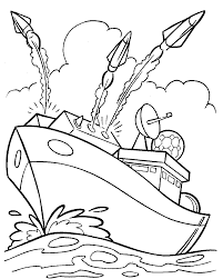 army coloring pages battleship firing missiles coloringstar