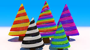 learning colors with 3d christmas tree for kids and children youtube