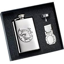 personalized horseshoe set personalized 4 oz horseshoe flask money clip gift