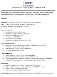 Resumes For Senior Citizens College Resume Examples For High Seniors Templates Template