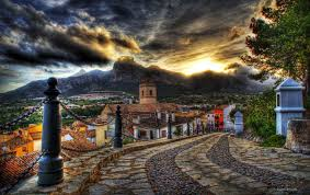 Beautiful Mountain Houses Architecture Street Mountain Hdr Old Sky Sunset Road