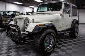 gunmetal grey jeep 1984 jeep cj 7 renegade pearl white