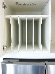 cookie sheet cabinet divider kitchen cabinet divider kitchen cabinets tray dividers for pan