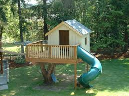 whimsical amazing tree house for children with cartoon like