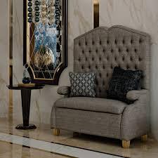 designer upholstered ottoman high backed bench juliettes