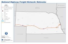 Nebraska State Map by National Highway Freight Network Map And Tables For Nebraska