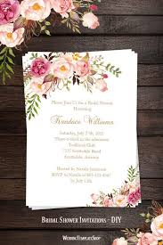 bridal shower invitation templates bridal shower invitation template blossoms printable diy