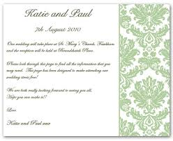 wedding invitations inserts wedding invitation wording information exle 1 contemporary