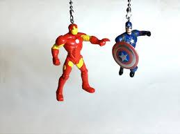 Fan For Kids Room by Capt America Vs Iron Man Ceiling Fan Light Pulls Avengers Civil