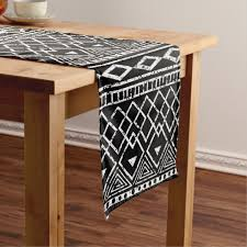black and white table runners cheap black white african tribal pattern short table runner zazzle com