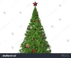traditional tree snowflake decorations stock