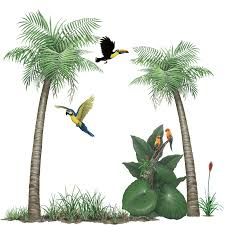 tropical rainforest sticker collection create your own jungle mural