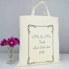 personalized wedding gift bags personalised mr and mrs wedding gift bag by andrea fays