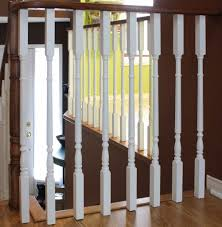 Painting Banister Spindles Stairway Remodel Part 4 Painting Spindles Risers And Using