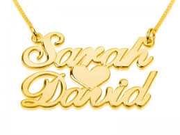gold necklace with name in cursive stunning classic type gold name necklace this accessory has a